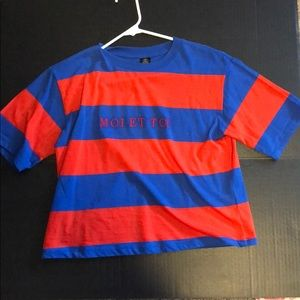 women's urban outfitters striped shirt